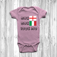 50% English 50% Italian Baby Grow - DizzyKitten