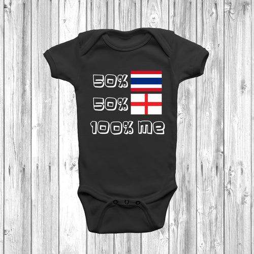 50% Thai 50% English Baby Grow - DizzyKitten