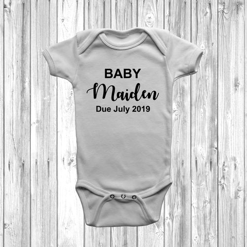 Personalised Baby Announcement Baby Grow