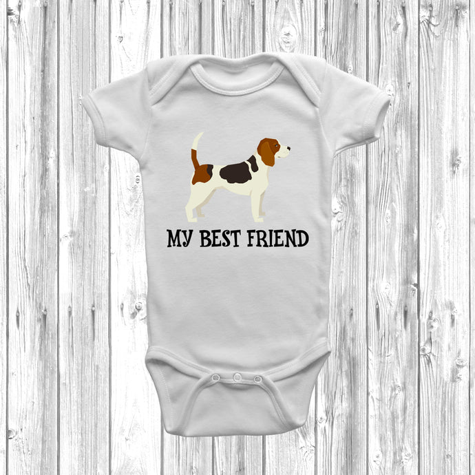 Beagle My Best Friend Baby Grow