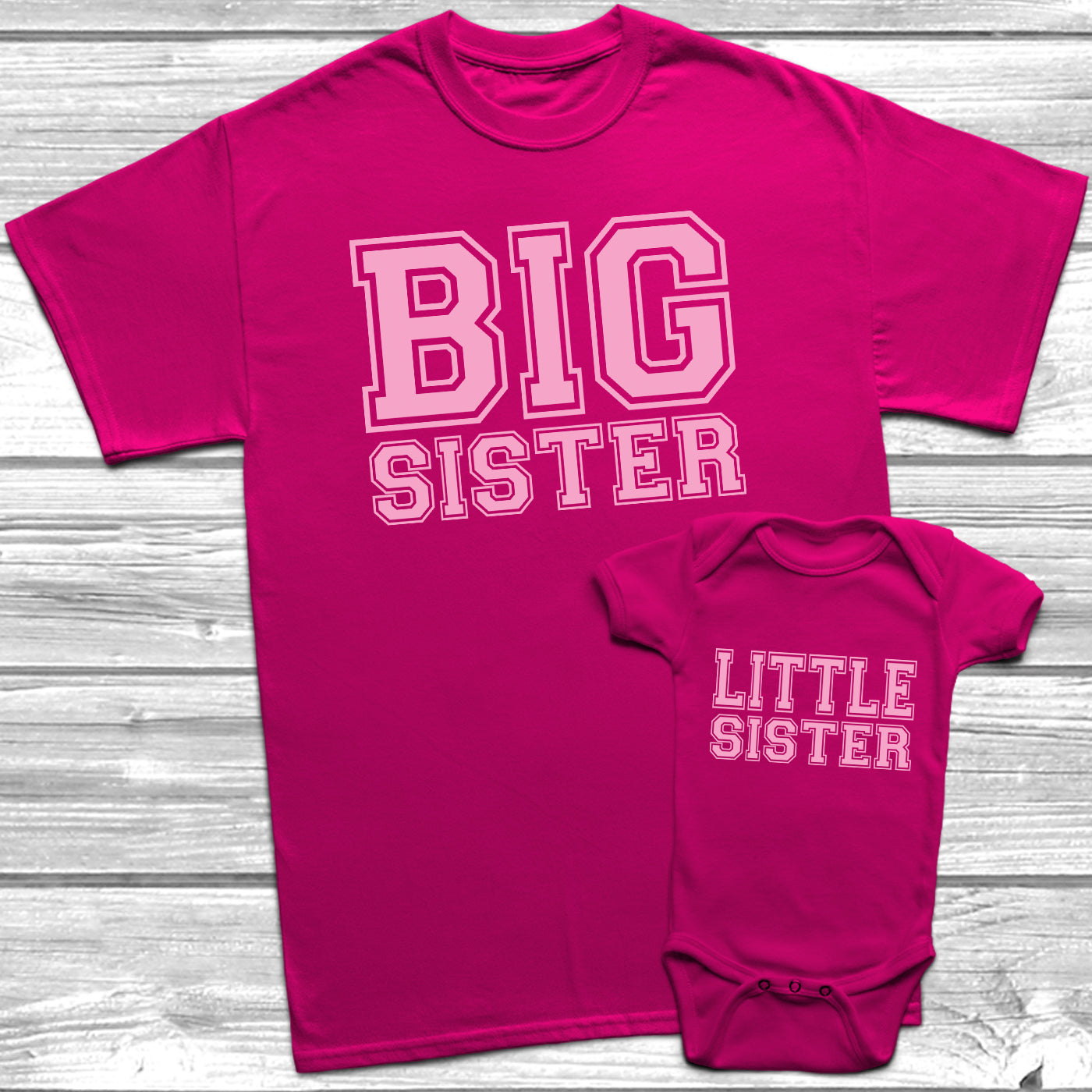 Big Sister Little Sister T Shirt Kids Baby Grow Sisters Outfits Ebay