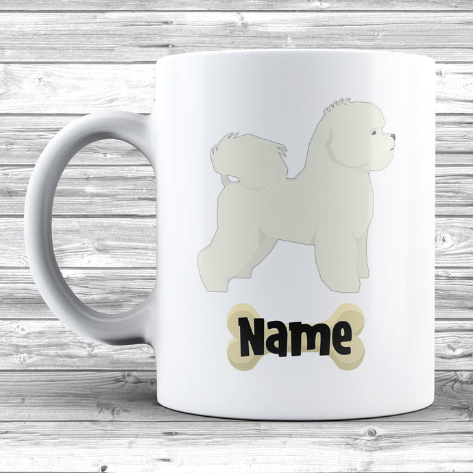 Bichon Frise Design With Dogs Name Mug