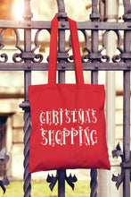 Christmas Shopping Tote Bag - DizzyKitten