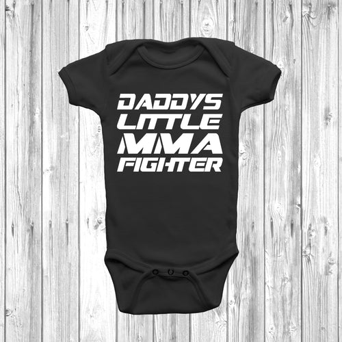 Daddys Little MMA Fighter Baby Grow