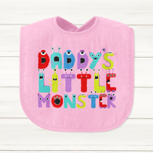 Daddy's Little Monster Baby Bib - DizzyKitten