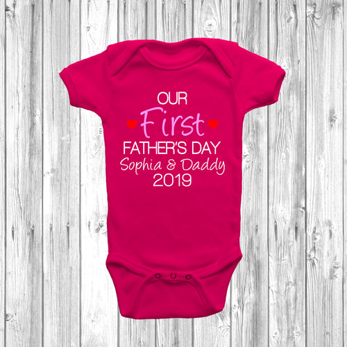 Personalised Girls Our First Fathers Day