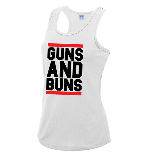 Guns And Buns Girlie Cool Vest - DizzyKitten