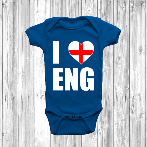 I Love England Baby Grow