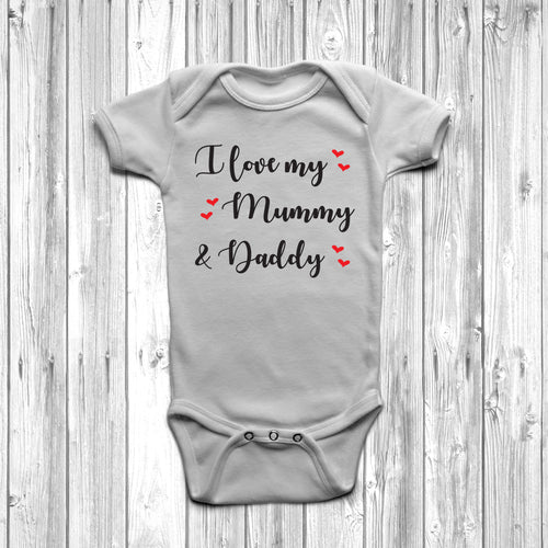 I Love My Mummy And Daddy Baby Grow