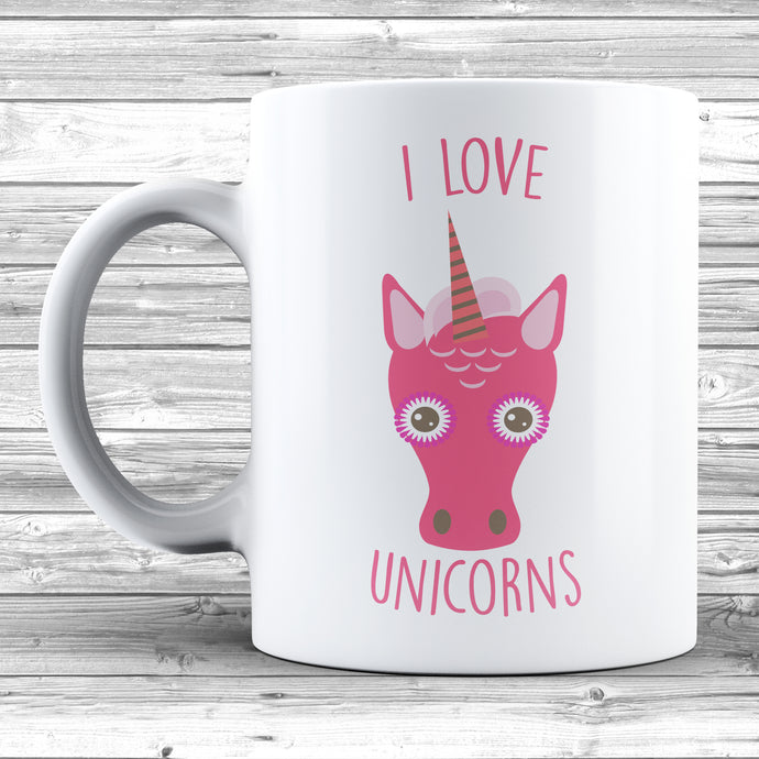 I Love Unicorns Mug - DizzyKitten