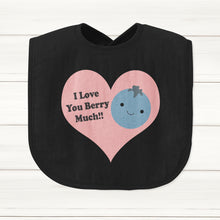 I Love You Berry Much Baby Bib - DizzyKitten