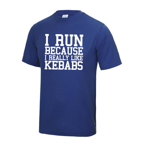 I Run Because I Really Like Kebabs T Shirt - DizzyKitten