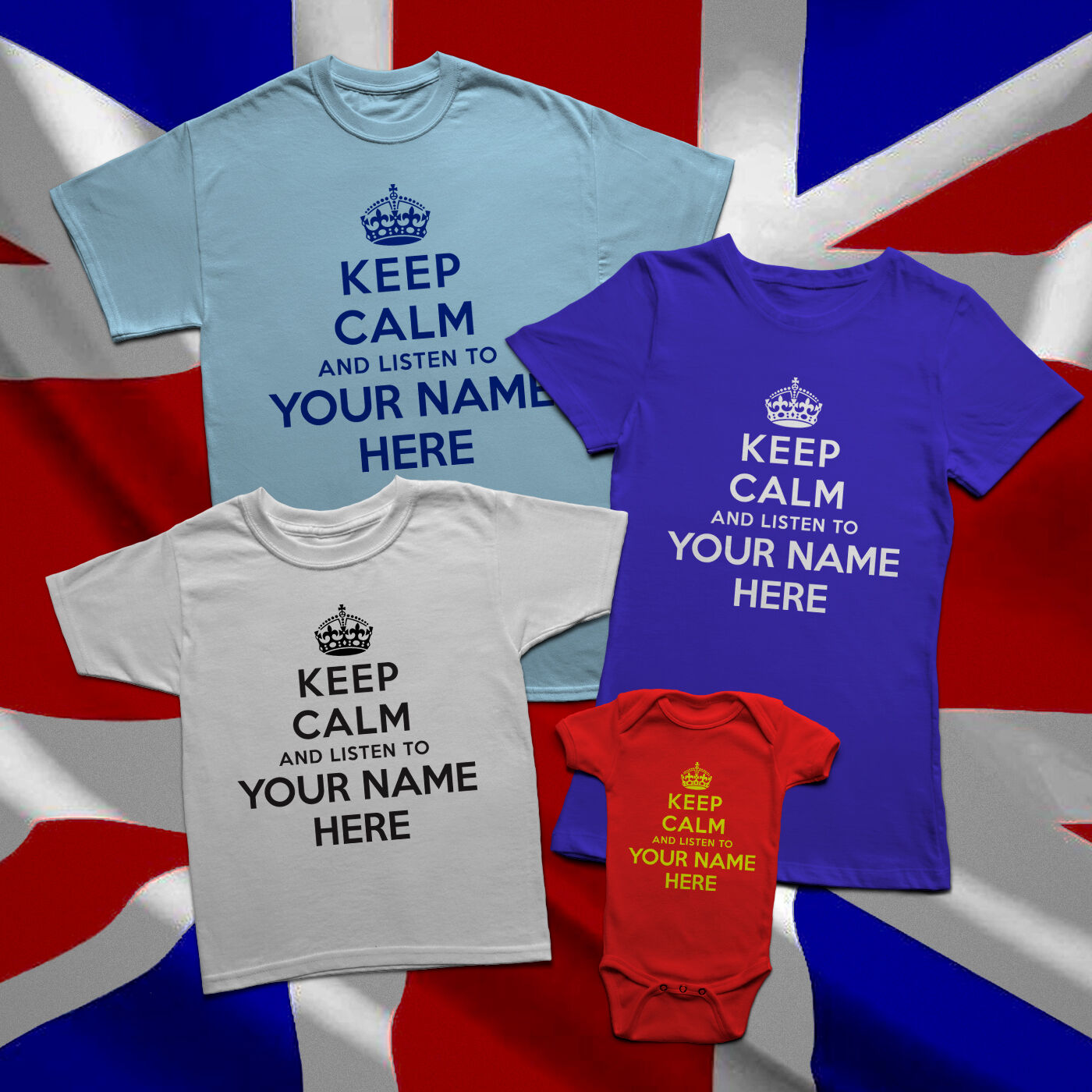 "KEEP CALM AND /"" ???? YOUR OWN TEXT/"" BABY T-SHIRT AND IN  ANY COLOUR PRINT"