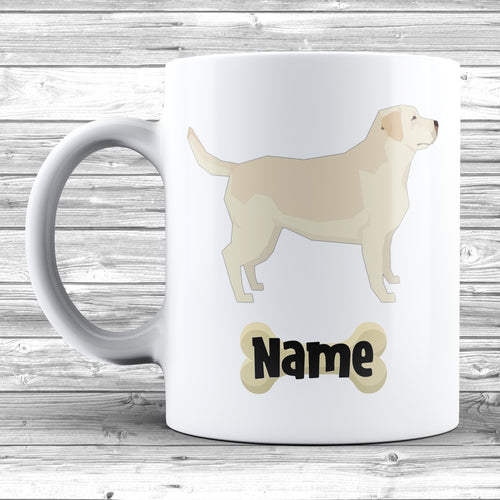 Labrador Retriever Design With Dogs Name Mug