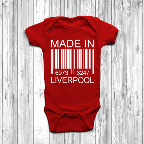 Made In Liverpool Baby Grow