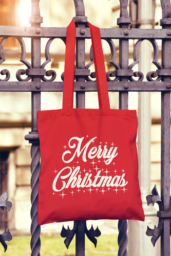 Merry Christmas Tote Bag - DizzyKitten