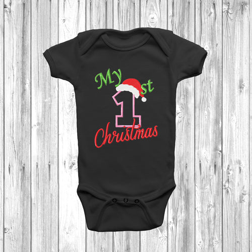 My 1st Christmas Baby Grow