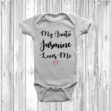Personalised My Auntie Loves Me Baby Grow