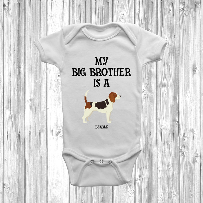 My Big Brother Is A Beagle Baby Grow