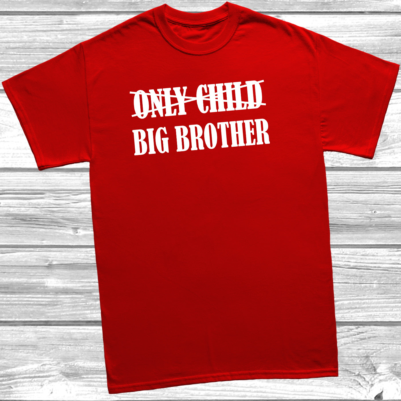 Only Child Big Brother T Shirt New Sibling Sister Promoted Baby Shower Gift Idea Ebay