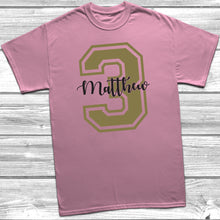 Personalised 3rd Birthday Name T-Shirt
