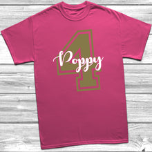 Personalised 4th Birthday Name T-Shirt
