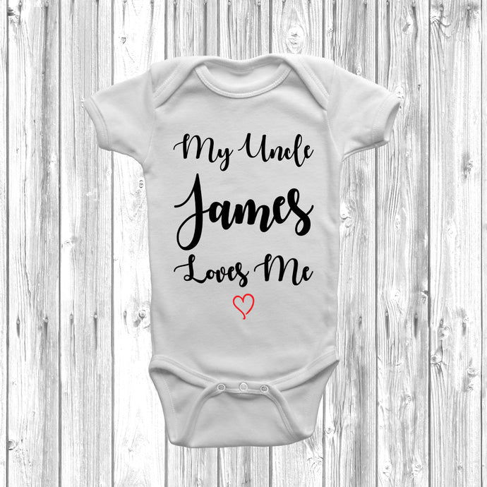 Personalised My Uncle Loves Me Baby Grow