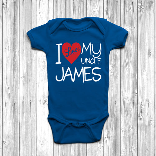 Personalised I Love My Uncle Baby Grow - DizzyKitten