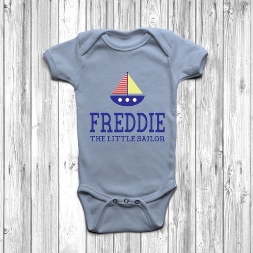 Personalised The Little Sailor Baby Grow - DizzyKitten