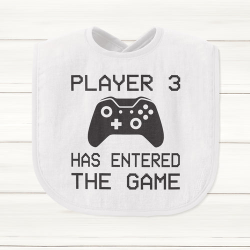 Player 3 Has Entered The Game Baby Bib - DizzyKitten