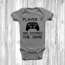 Player 7 Has Entered The Game Baby Grow Grey Body Suit Newborn