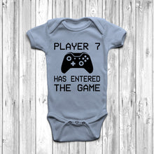 Player 7 Has Entered The Game Baby Grow Pastel Blue Body Suit Newborn