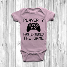 Player 7 Has Entered The Game Baby Grow Pastel Pink Body Suit Newborn