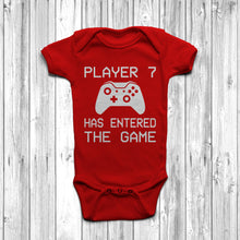 Player 7 Has Entered The Game Baby Grow Red Body Suit Newborn