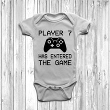 Player 7 Has Entered The Game Baby Grow White Body Suit Newborn