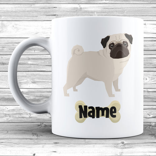 Pug Design With Dogs Name Mug