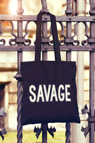 Savage Tote Bag - DizzyKitten