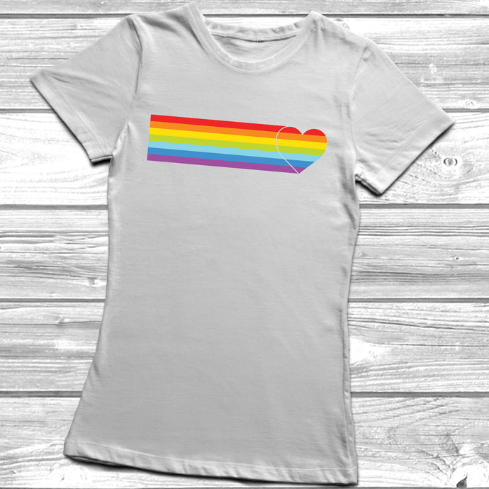 Heart Rainbow Stripe T-Shirt
