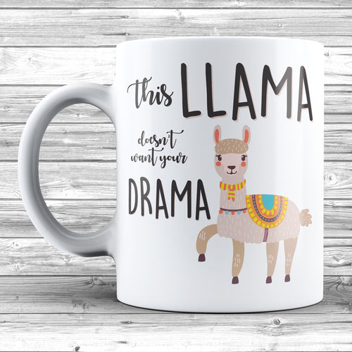 This Llama Doesn't Want Your Drama Mug - DizzyKitten
