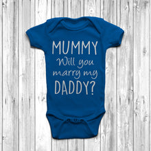 Mummy Will You Marry Daddy Baby Grow Marriage Proposal Idea Royal Blue
