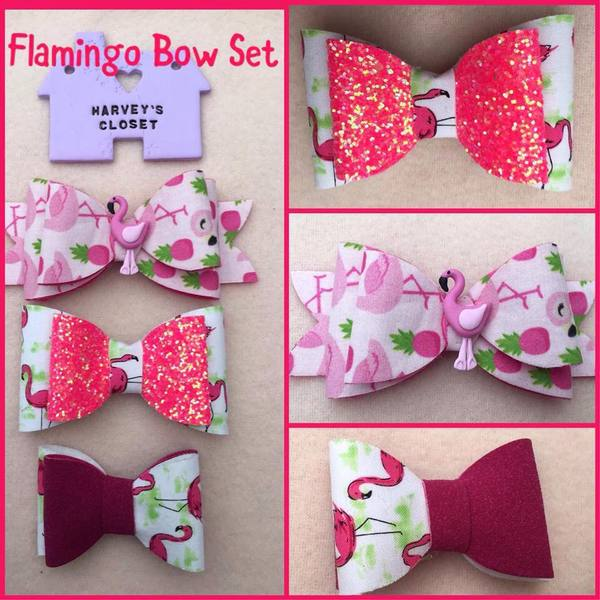 Flamingo Bow Set - Harveyshouse