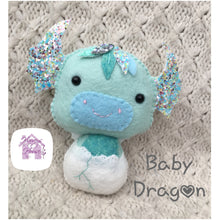 Handmade Baby Dragon Collectable Doll- Harveyshouse handmade crafts