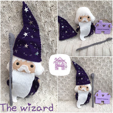 Handmade Magical Wizard - Harveyshouse handmade crafts