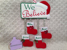Personalised Christmas Plaque Embriodered Xmas Stocking Decoration - Harveyshouse handmade crafts