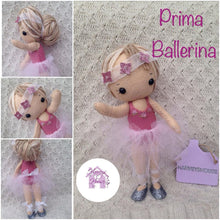 Prima Ballerina Felt Collectable Doll - Harveyshouse handmade crafts