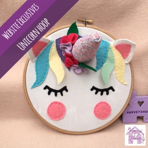 Sleepy Unicorn Hoop - Harveyshouse handmade craft