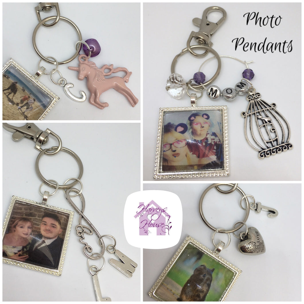 Personalised Photo Keyrings - Harveyshouse Handmade Crafts