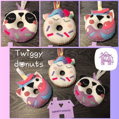 Twiggy Donuts Harveyshouse handmade crafts
