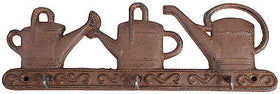 Cast Iron Decorative Key Hook with Watering Can Decoration