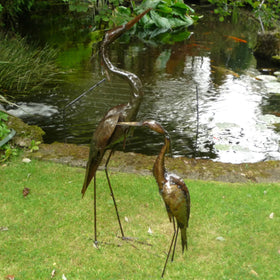 Recycled Metal Herons